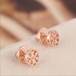 TORY BURCH Rose Gold Studs 🍁